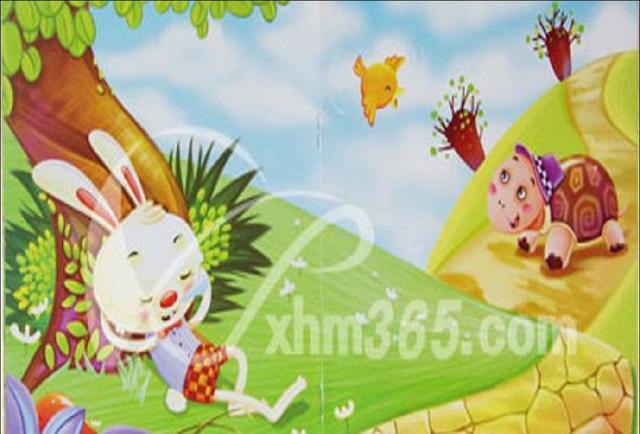 兔子是森林里远近闻名的赛跑冠军,每次比赛都能得第一名,所以,它非常骄傲。  有一天,兔子看到乌龟在地上慢慢地爬,嘲笑它说:哈哈,你怎么爬得那么慢呀!  被兔子嘲笑,小乌龟羞得低下了头。  树上的松鼠听到了兔子的话,它觉得兔子实在太骄傲了,就说:兔子,你别太骄傲了,你和乌龟比赛,没准儿还跑不过乌龟呢!  兔子为了炫耀自己的实力,非要向乌龟下挑战书!  乌龟硬着头皮接受挑战!  比赛开始后,兔子凭借实力遥遥领先乌龟。  兔子自己觉得赢乌龟没问题,于是决定先在树下睡会觉。  顽强的乌龟跑呀跑呀,悄悄经