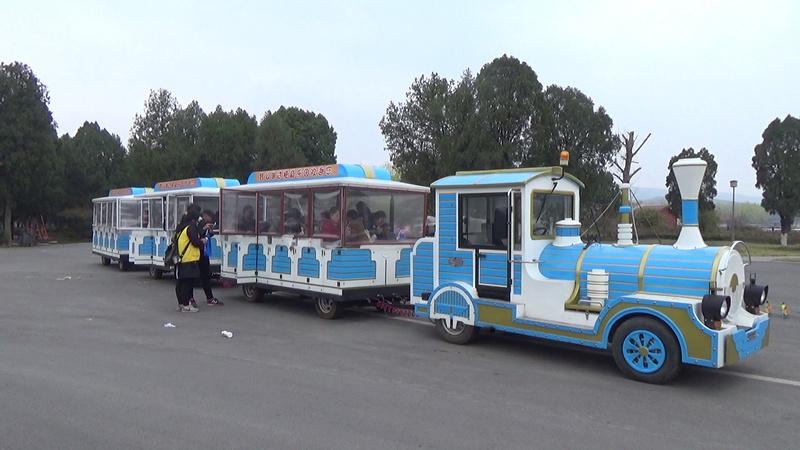 泗县蓓蕾幼儿园亲子体验活动:座火车