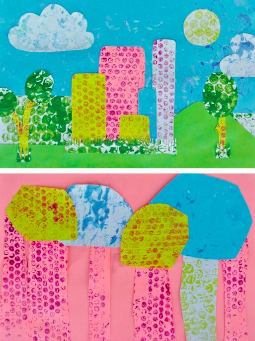 艺术创想:《神奇气泡膜 能剪能画能做手工,这么万能的图片