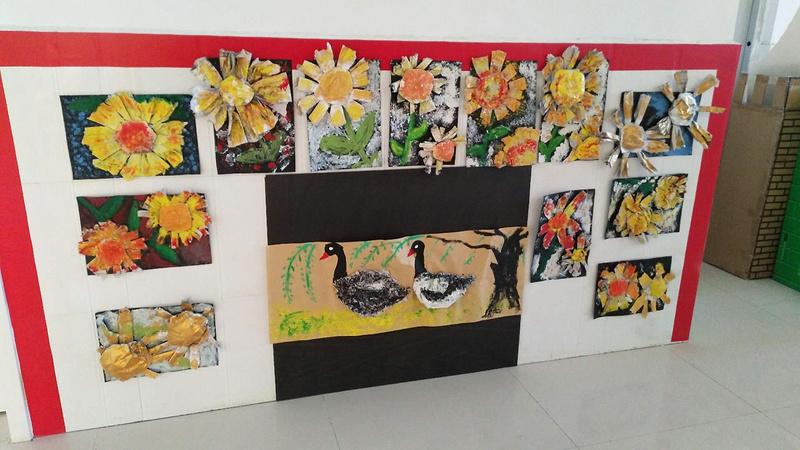 六户镇中心幼儿园开展小梵高美术教育活动研讨