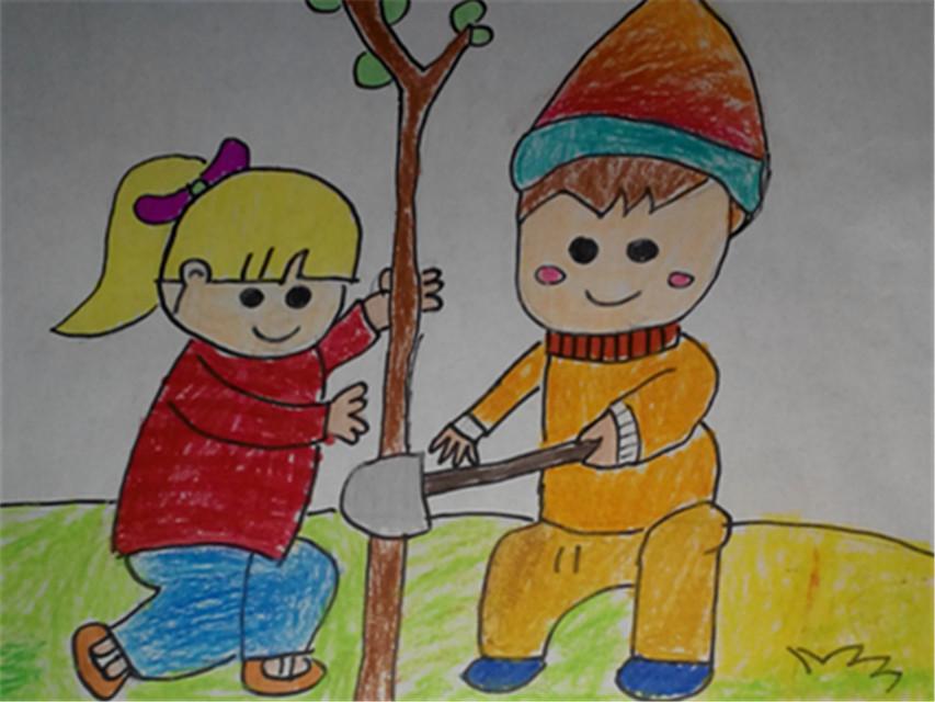 争做文明小市民幼儿绘画作品集图片