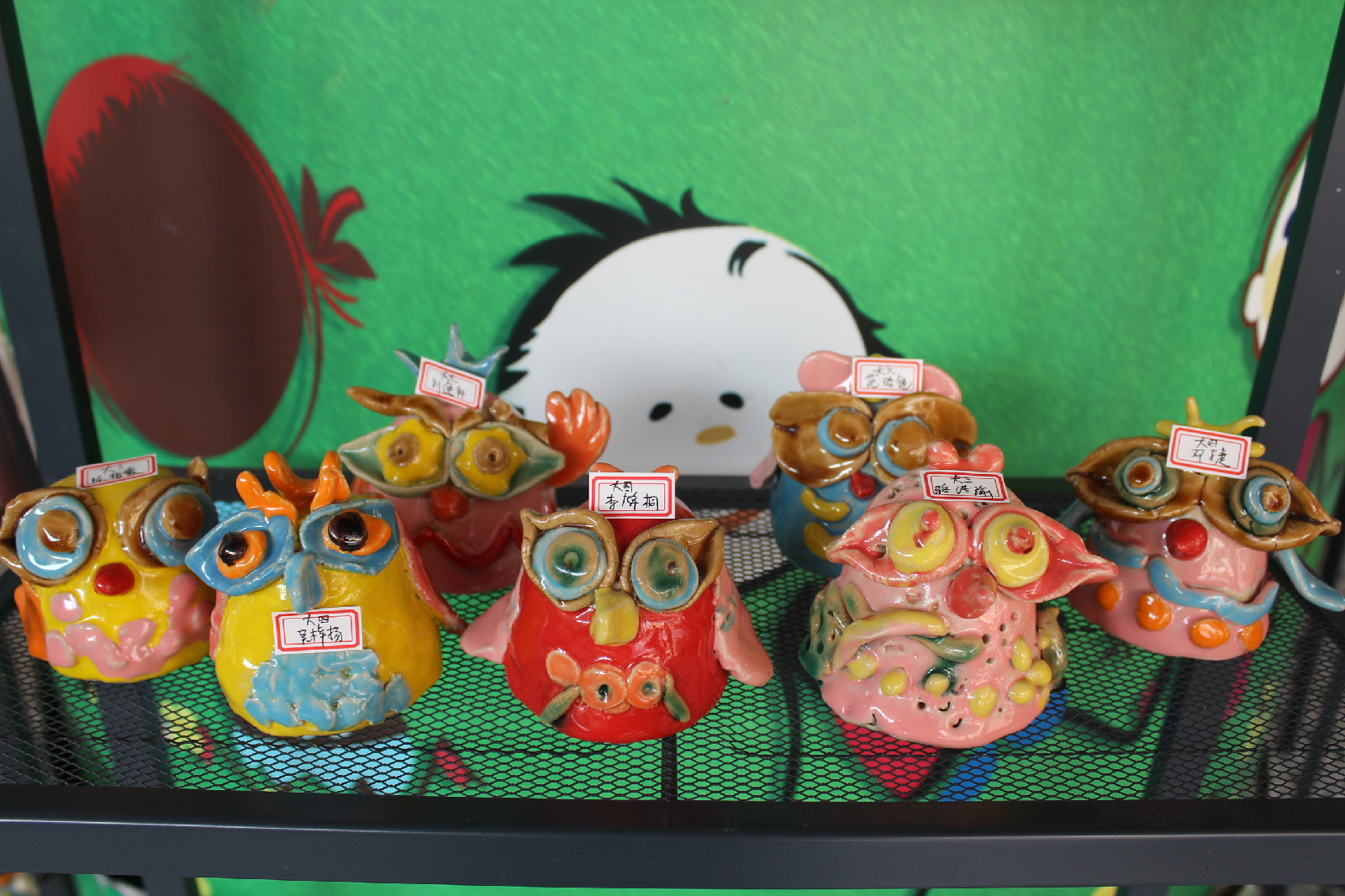 幼儿陶艺作品展示
